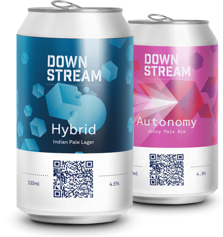 Downstream Beer Cans